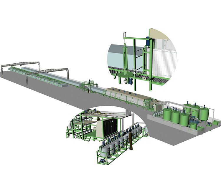 DMJX-2400 Horizontal automatic continuously foaming machine